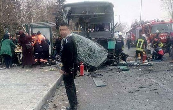 13 soldiers killed, 56 wounded in attack in Turkey's Kayseri