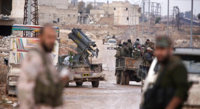 Syrian army's Aleppo advance slows but victory in sight