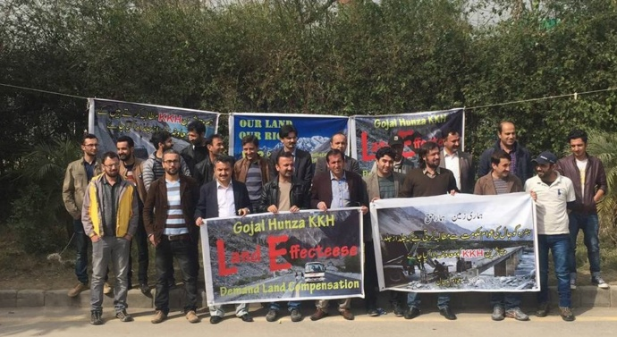 Kashmir: KKH expansion affectees protest, demand compensation