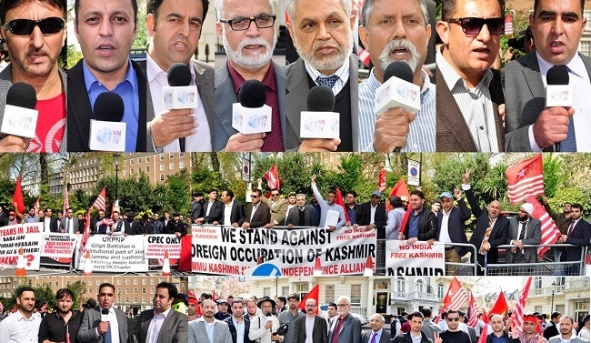 Kashmiri protest outside pakistani high commission London