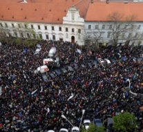 Thousands of Slovaks protest corruption, demand ouster of PM Fico's ally