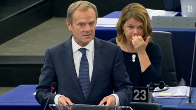 Brexit: Outcome of negotiations 'up to UK' says Tusk