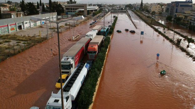 Flash floods killed at least 14 in Greece