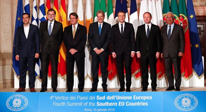 Southern EU leaders wrestle with migration and budgets at Med7 summit