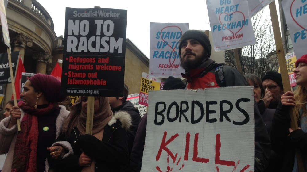 """""""We are sick of it"""": Thousands protest racism' in London"""