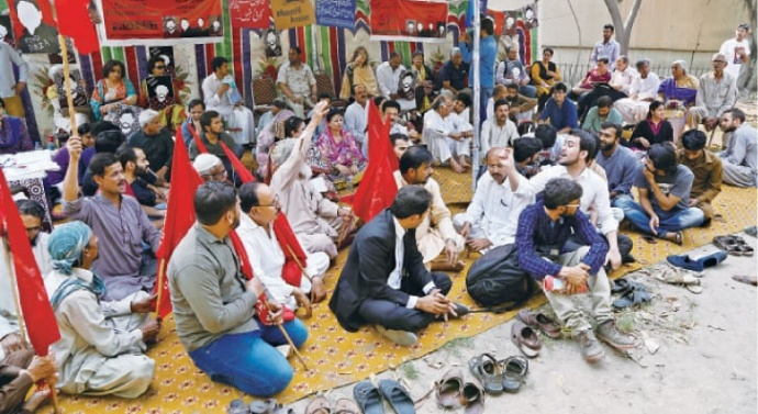 Protest camp against enforced disappearances in Pakistan