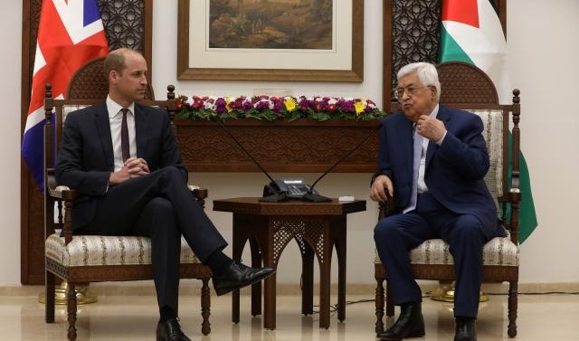 Britain's Prince William tells Palestinians 'you have not been forgotten'