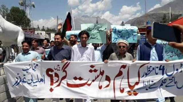 Kashmir:People protests against Right Violations in GB