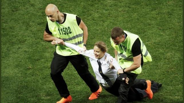 Russia jails Pussy Riot members who invaded pitch during FIFA World Cup 2018 final