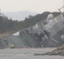 Norway's warship collides with oil tanker