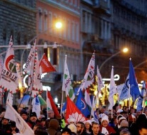 Thousands of Hungarians protest against Orban's rule