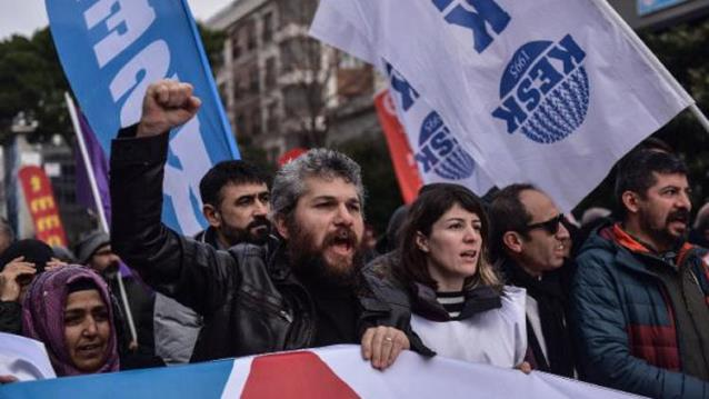 Unions rally in Istanbul against poverty, unemployment