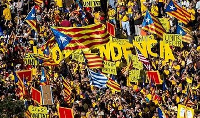 Catalan separatists hold huge rally in Barcelona