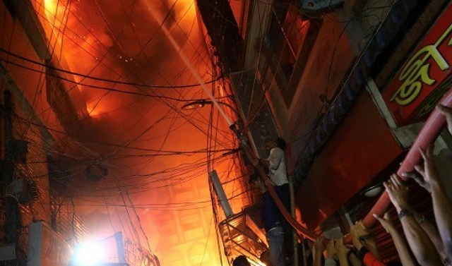 Dhaka building fire kills at least 70, toll could climb
