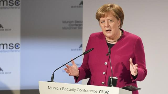 Merkel, Pence clash on Iran deal at Munich conference
