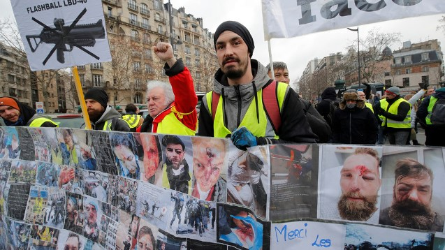 Look into their eyes: Yellow Vests march through Paris blaming police for bloody violence
