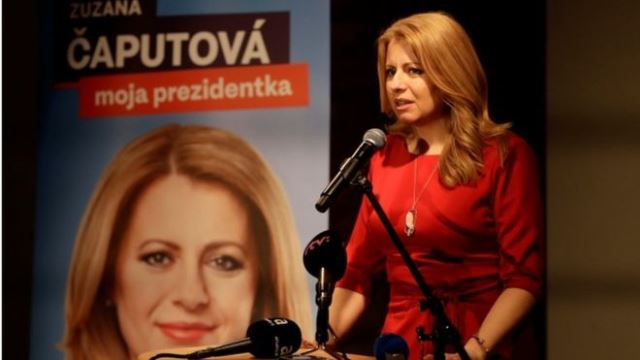 Liberal lawyer becomes Slovakia's first female president