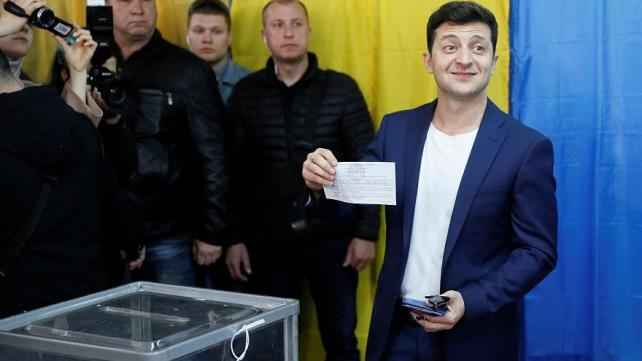 Ukrainian comedian tipped to win presidential race by landslide: Exit poll