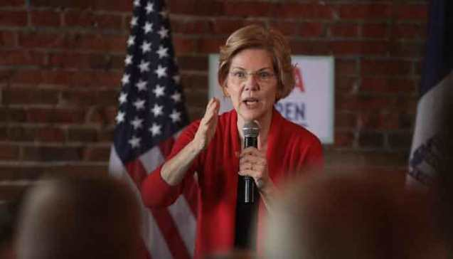 Trump would be 'in handcuffs' if not president, says Democrat Warren