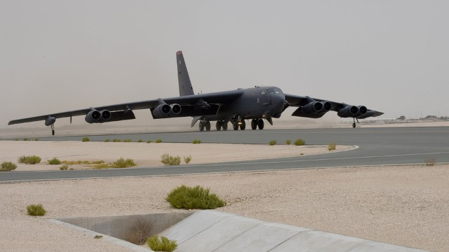 American B-52s fly first mission over Persian Gulf to 'send message' to Iran