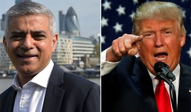 Donald Trump attacks Sadiq Khan over London violence