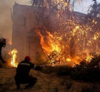Villages evacuated as fire burns Greek island nature reserve