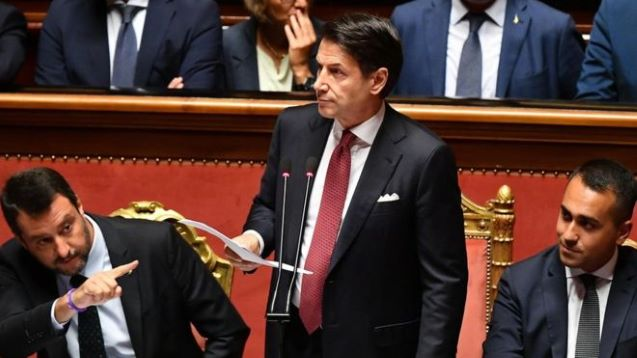Italy PM makes fierce attack on Salvini and quits