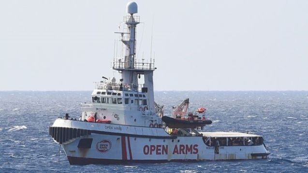 Italy's Salvini in row with PM over Open Arms migrant ship