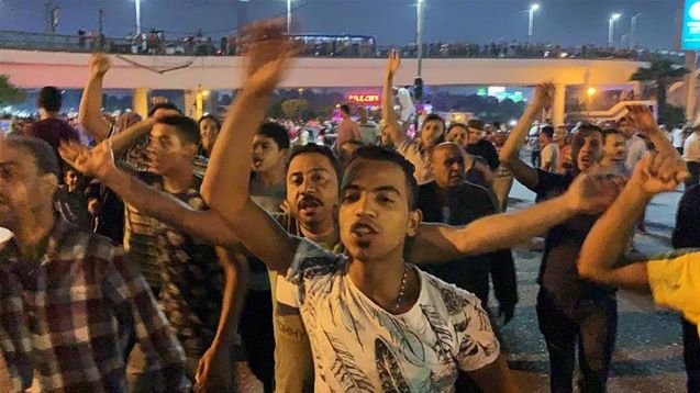 In rare protests, Egyptians demand President Sisi's removal