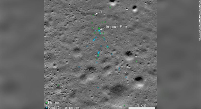 India's crashed lunar lander site is spotted on the moon
