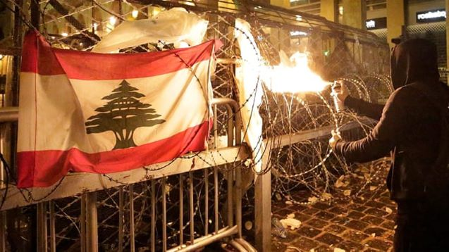 Violent protests in Beirut follow Lebanon's cabinet meeting