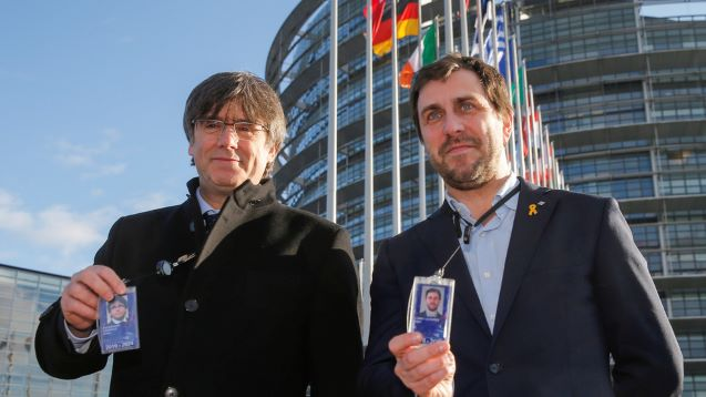 Catalan leader Puigdemont attends EU Parliament session despite Spain arrest warrant