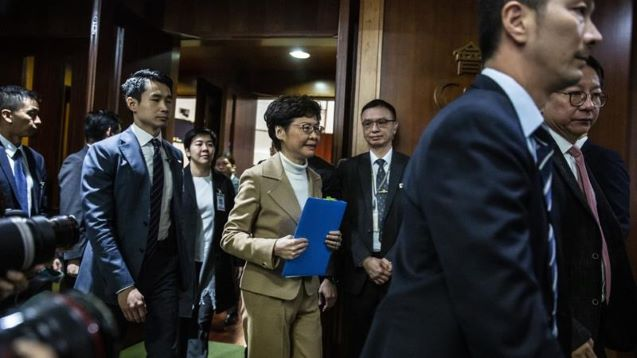 Hong Kong's Lam told: 'You are the laughing stock of the world'