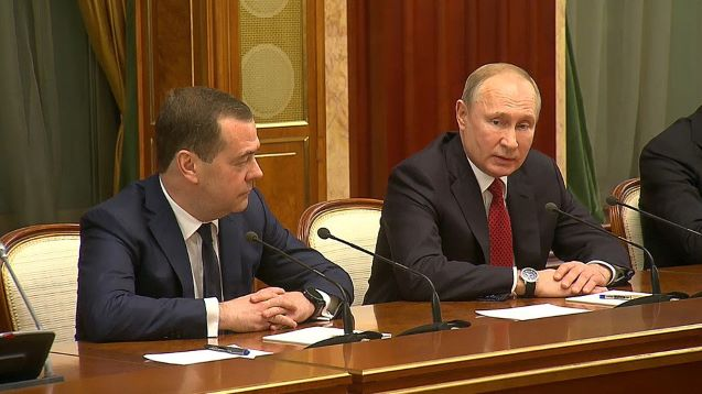 Russian government resigns, after President Putin's State-of-the-Nation