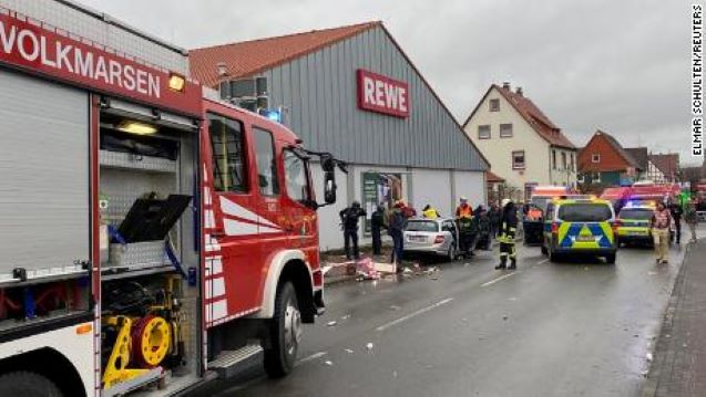 Several injured after car drives into crowd at carnival in Germany