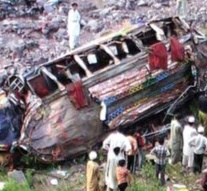 Nine killed as passenger bus plunges into ravine in Azad Kashmir