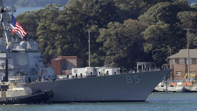 US warship sails through Taiwan Strait amid tensions with China