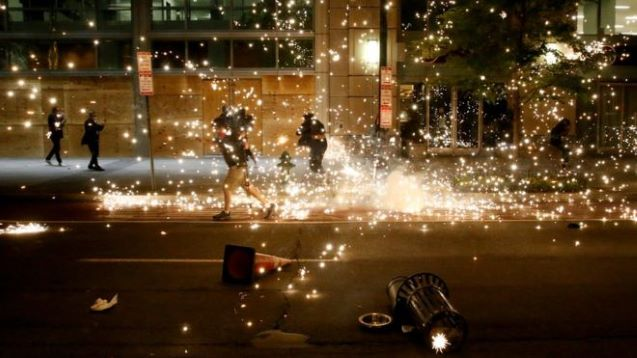 America: Violence erupts on sixth day of protests