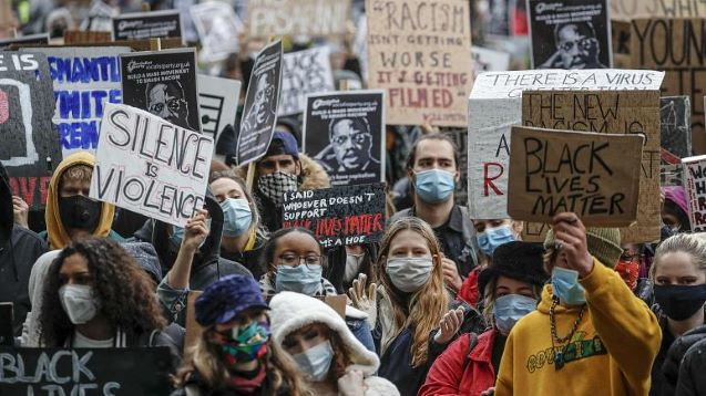 Black Lives Matter: Protesters take to streets in Europe despite pandemic restriction