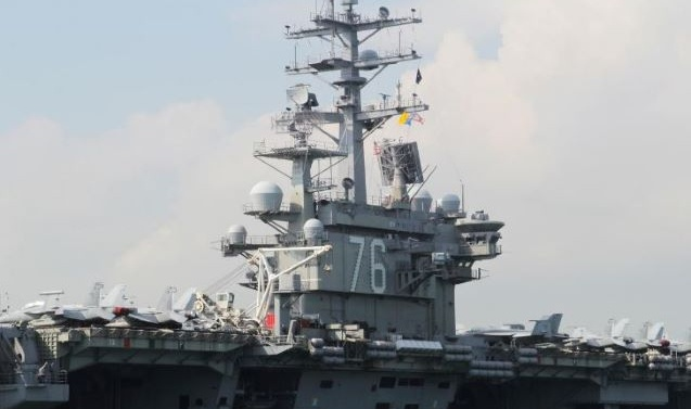Two US aircraft carriers were conducting exercises in the disputed South