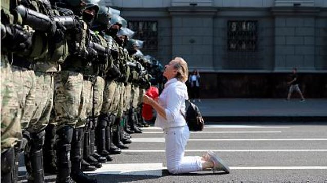 Dozens detained in Belarus anti-government protest