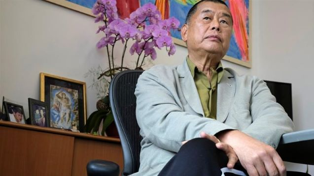 'Fight on': Arrested Hong Kong media tycoon Jimmy Lai tells staff